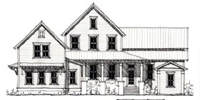 Historic , Country House Plan 73901 with 3 Beds, 3 Baths Elevation