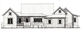 Country , Farmhouse , Historic House Plan 73904 with 3 Beds, 5 Baths, 3 Car Garage Elevation