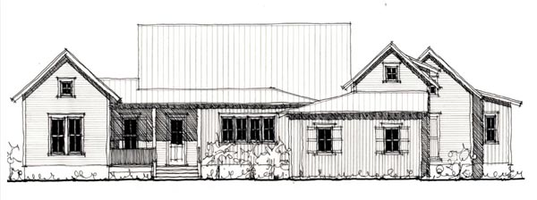 Country Farmhouse Historic Elevation of Plan 73904