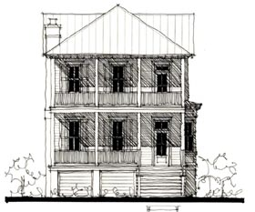 Country Historic House Plan 73905 Elevation