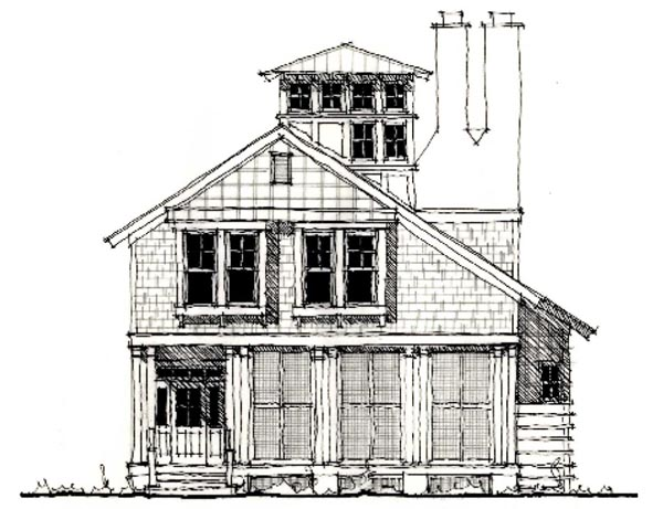 Country Historic House Plan 73906 Elevation