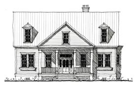 Historic , Country House Plan 73907 with 3 Beds, 4 Baths Elevation