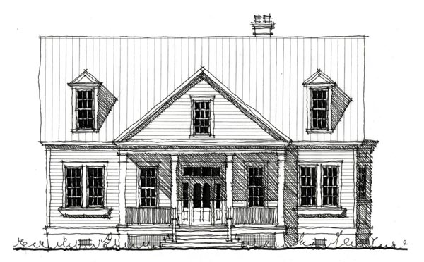 Country Historic House Plan 73907 Elevation