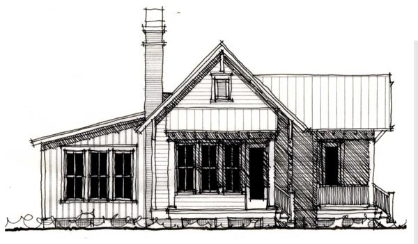 Country Historic House Plan 73909 Elevation