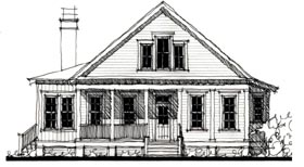Country , Historic House Plan 73910 with 4 Beds, 3 Baths Elevation