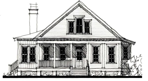 Country Historic House Plan 73910 Elevation
