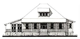 Country Historic House Plan 73911 Elevation