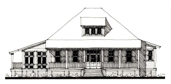 Country, Historic House Plan 73911 with 3 Beds, 4 Baths Elevation