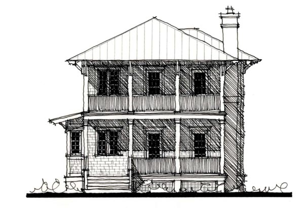 Country Historic House Plan 73912 Elevation