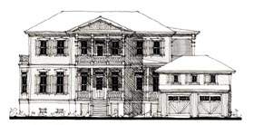 Country , Historic House Plan 73914 with 3 Beds, 4 Baths Elevation
