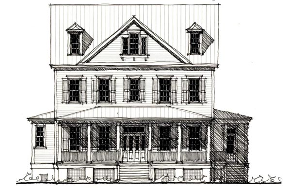 Country Historic House Plan 73915 Elevation