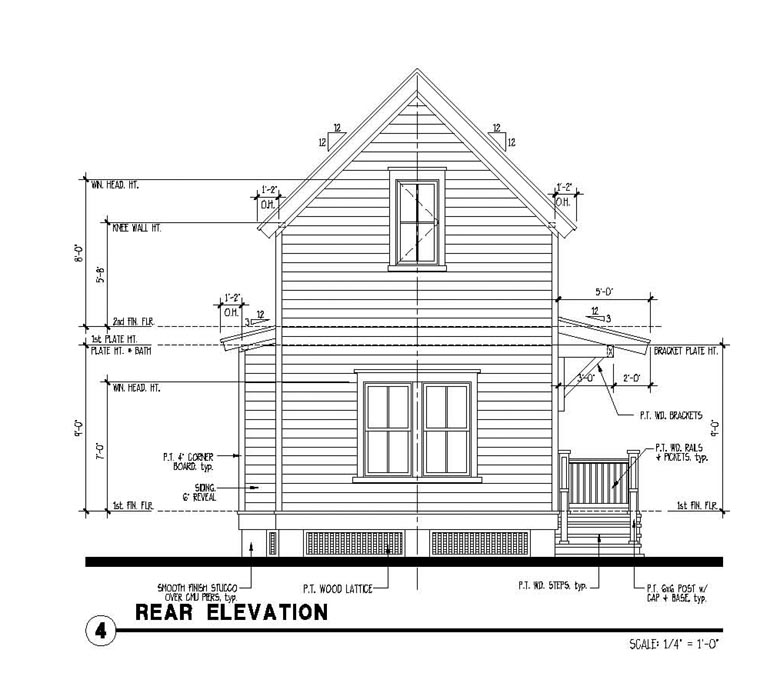 Country Historic House Plan 73917 Rear Elevation