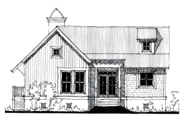 Country Historic House Plan 73918 Elevation