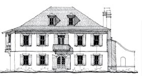 Country Historic Southern House Plan 73921 Elevation