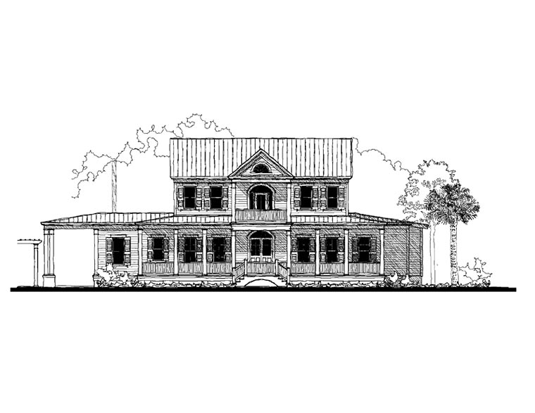 Colonial Country Southern House Plan 73922