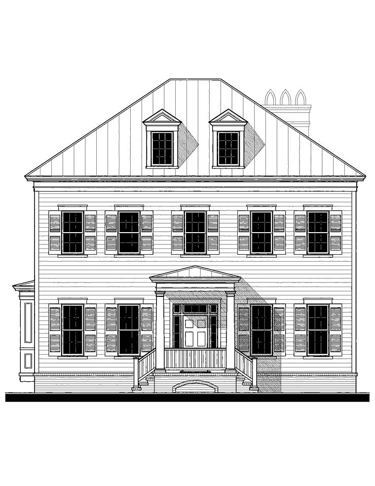Colonial, Southern House Plan 73925 with 6 Beds, 5 Baths Picture 1