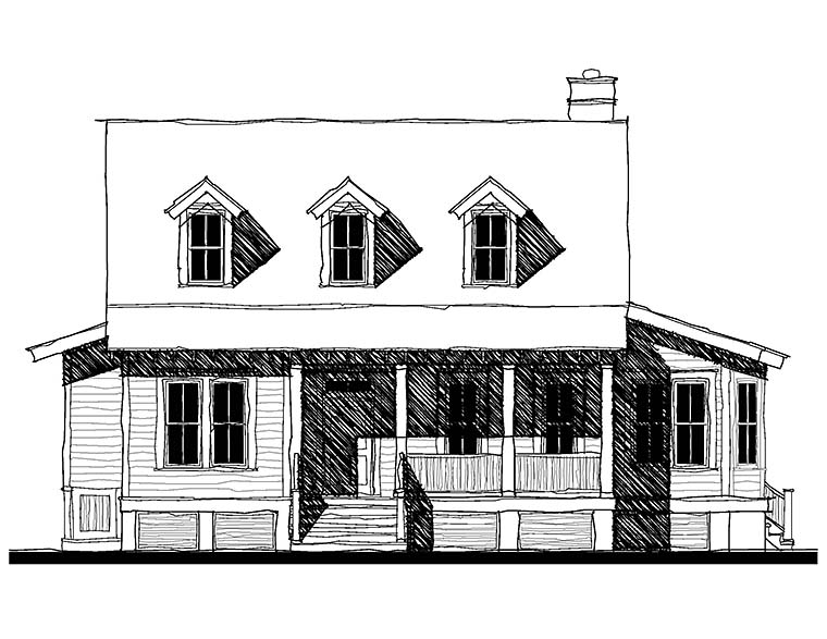 Cape Cod Country Southern House Plan 73932