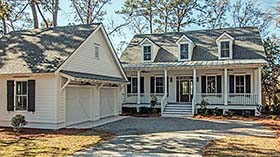 Cape Cod , Country , Southern House Plan 73933 with 3 Beds, 4 Baths Elevation