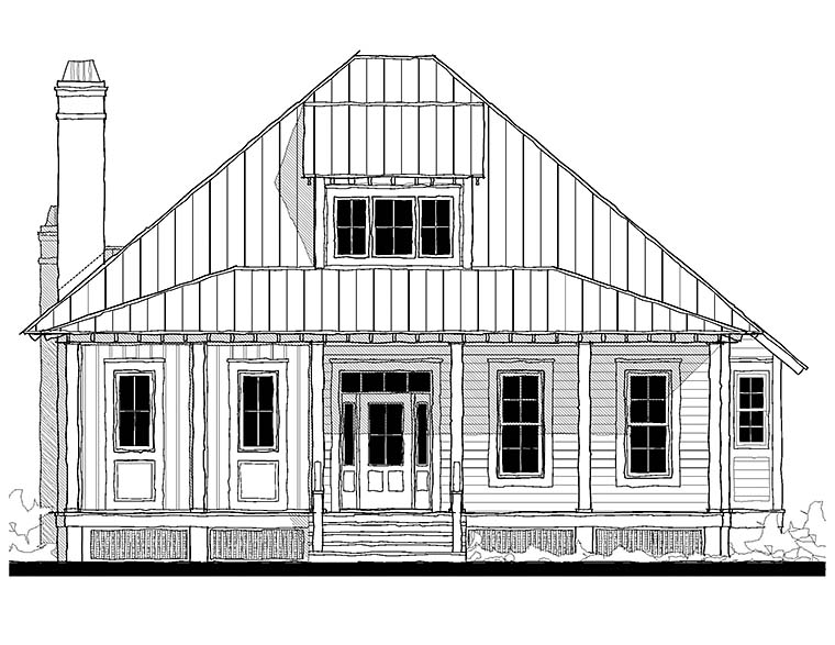 Contemporary, Cottage, Country, Southern House Plan 73936 with 3 Beds, 3 Baths Picture 1