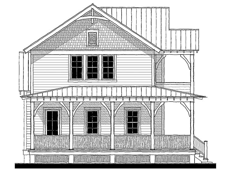 Country Farmhouse Southern Traditional House Plan 73945 Elevation