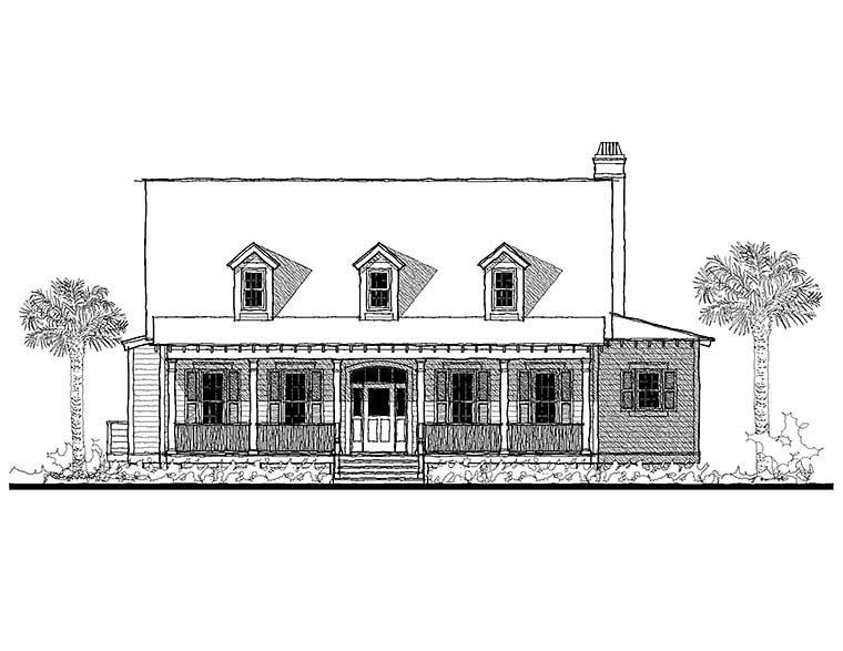 Coastal, Country, Southern House Plan 73949 with 3 Beds, 4 Baths Picture 1
