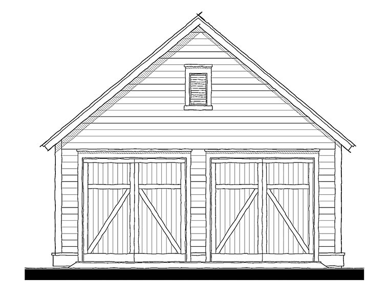 Cottage Traditional Elevation of Plan 73951