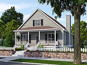 Bungalow Cottage Country Traditional House Plan 74001 Elevation