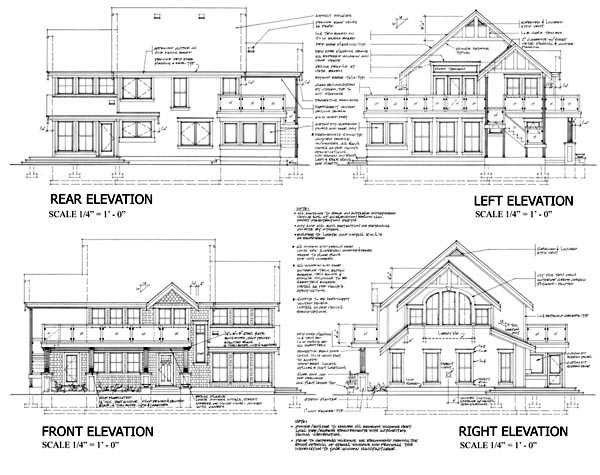 Contemporary Craftsman Traditional House Plan 74016 Rear Elevation