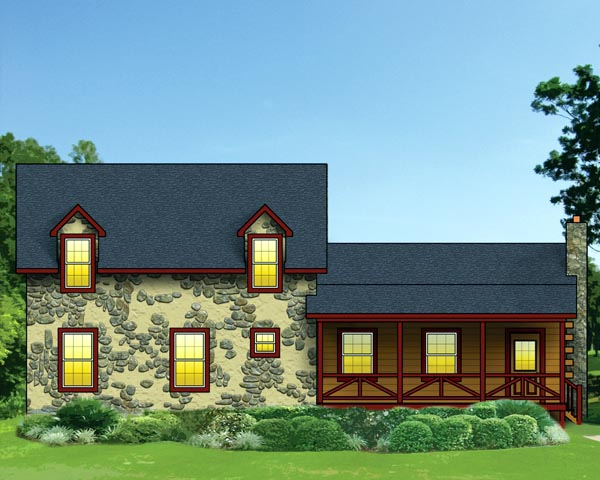 House Plan 74101 | Log Style Plan with 2153 Sq Ft, 3 Bedrooms, 2 Bathrooms Elevation