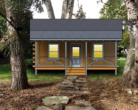 Plan Number 74106 - 443 Square Feet