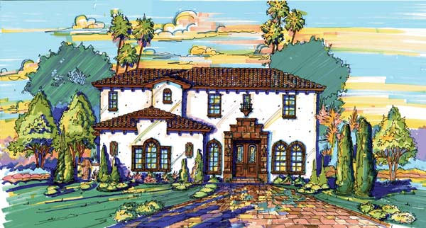 Mediterranean Southwest House Plan 74209 Elevation