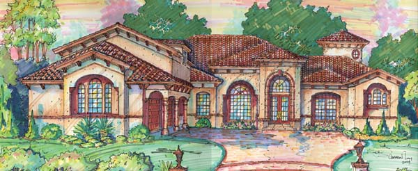Mediterranean Southwest House Plan 74211 Elevation