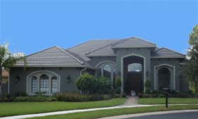 House Plan 74226 | Mediterranean Southwest Style Plan with 3204 Sq Ft, 4 Bedrooms, 4 Bathrooms, 3 Car Garage Elevation