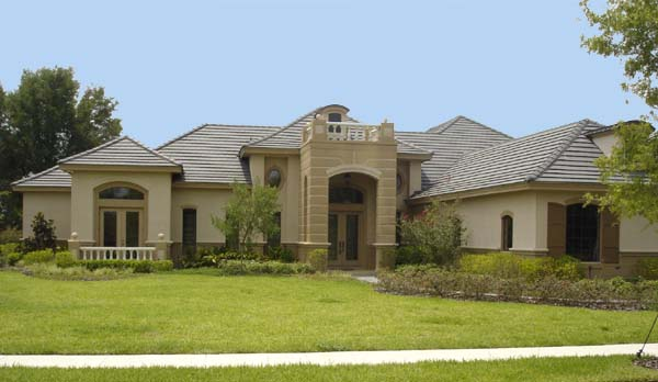 House Plan 74229 | Mediterranean Style Plan with 3952 Sq Ft, 4 Bedrooms, 4 Bathrooms, 3 Car Garage Elevation