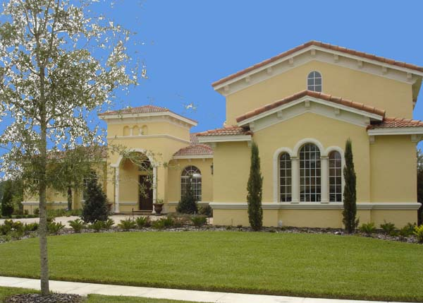 Mediterranean, Southwest House Plan 74239 with 3 Beds, 6 Baths, 3 Car Garage Elevation
