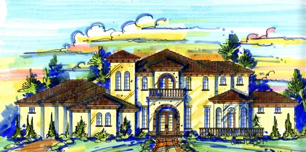 Mediterranean Southwest House Plan 74246 Elevation