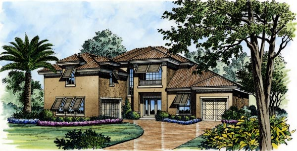 Florida House Plan 74251 Elevation