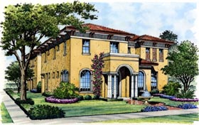 Traditional House Plan 74252 Elevation
