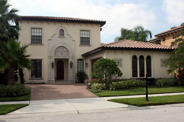 House Plan 74255 | Mediterranean Style Plan with 2886 Sq Ft, 3 Bedrooms, 4 Bathrooms, 2 Car Garage Elevation