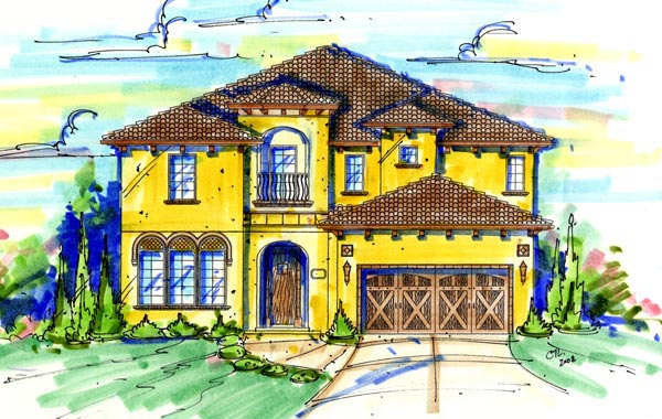Mediterranean House Plan 74258 Elevation