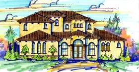 Mediterranean House Plan 74261 with 4 Beds, 4 Baths, 2 Car Garage Elevation