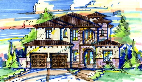 Mediterranean House Plan 74264 Elevation