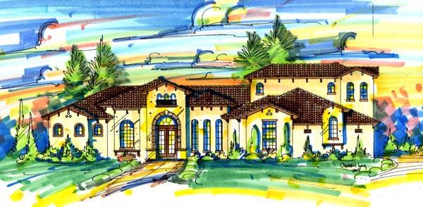 Mediterranean House Plan 74267 Elevation