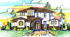House Plan 74268 | Style House Plan with 4291 Sq Ft, 4 Bed, 5 Bath, 3 Car Garage Elevation