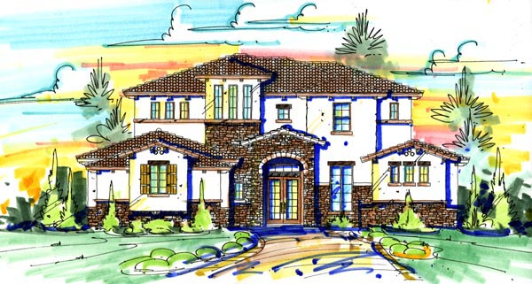House Plan 74268 with 4 Beds, 5 Baths, 3 Car Garage Front Elevation