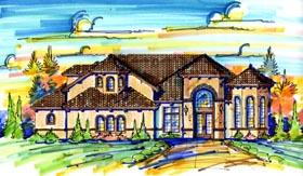 Mediterranean House Plan 74270 Elevation