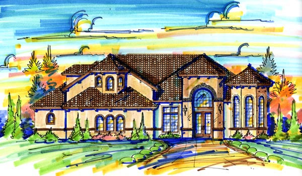 Mediterranean House Plan 74270 Elevation