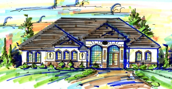 Mediterranean House Plan 74271 Elevation