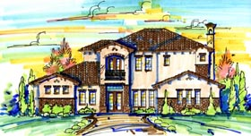 House Plan 74274 Elevation