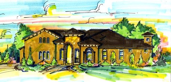 Mediterranean House Plan 74276 Elevation
